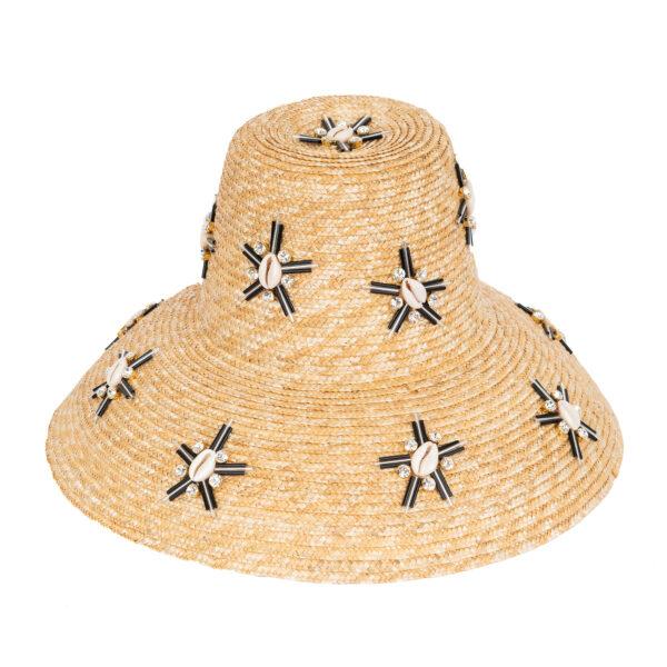 CAROL STARSHELLS BLACK HAT