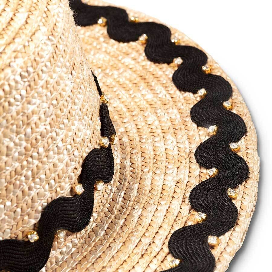 WAVE BLACK BOATER HAT